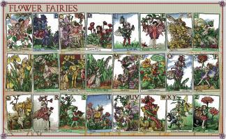 FAIRIES-2: bordado a punto de cruz de las hadas de las flores