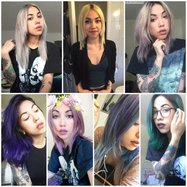 My 2016 hair colours from January to August