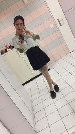 Sometimes I wear skirt