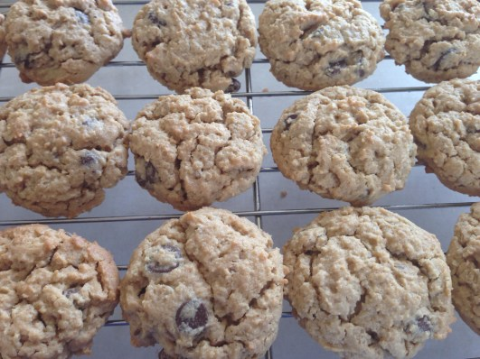 Peanut butter, oatmeal, chocolate chip cookies