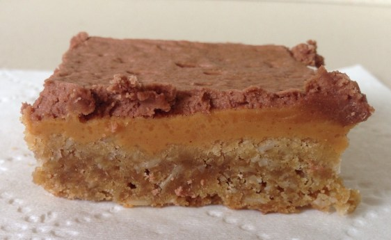 Double Peanut Butter Bars with chocolate frosting