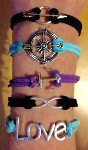 Young Women Theme Leather Bracelets