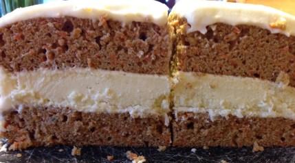 Carrot Cheesecake layered cake