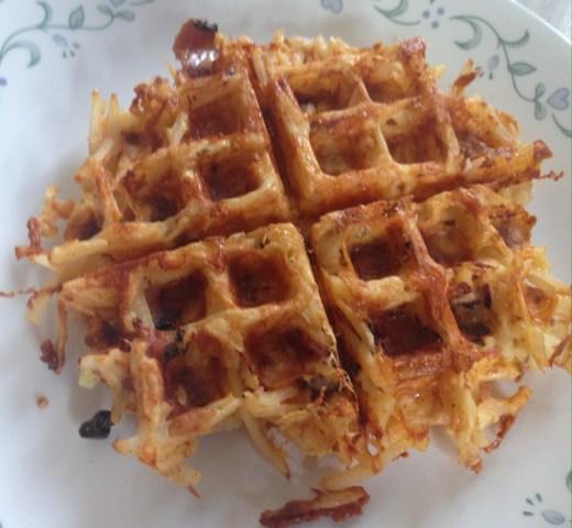 Ham & Cheese Hashbrown Waffles