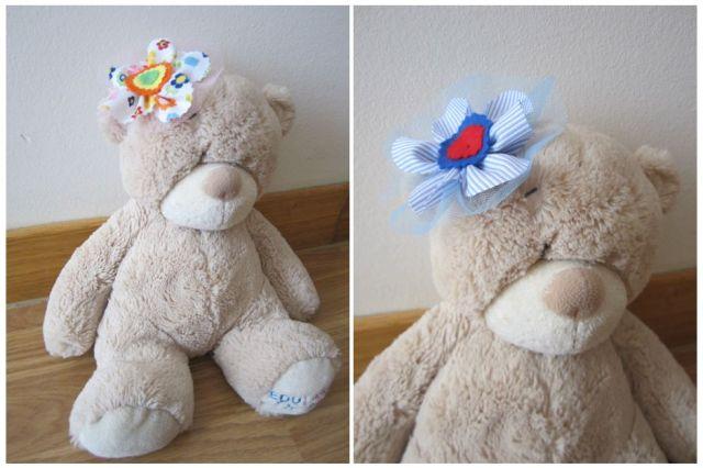 mis nancys, mis peques y yo, tutorial facil DIY flor de tul colores peluche