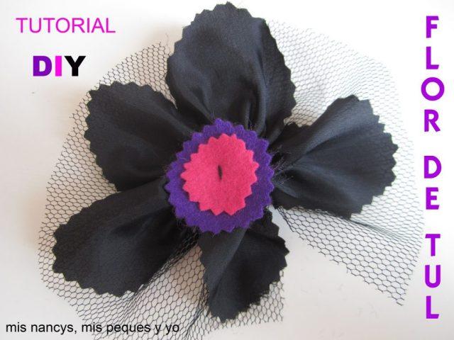 mis nancys, mis peques y yo, tutorial facil DIY flor de tul
