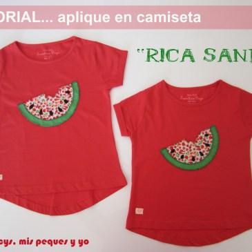 Tutorial Aplique en camiseta…»Rica Sandía»