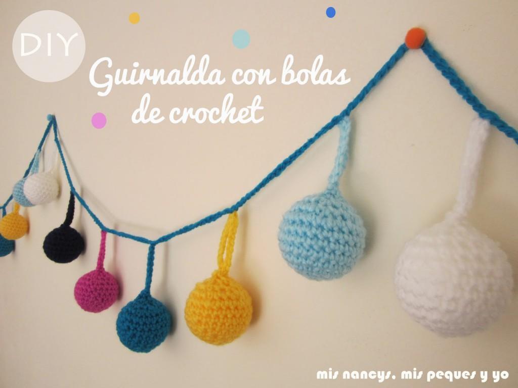 Guirnalda con bolas de Navidad de crochet - mis nancys mis peques y yo