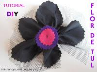mis nancys, mis peques y yo, tutorial fácil DIY flor de tul