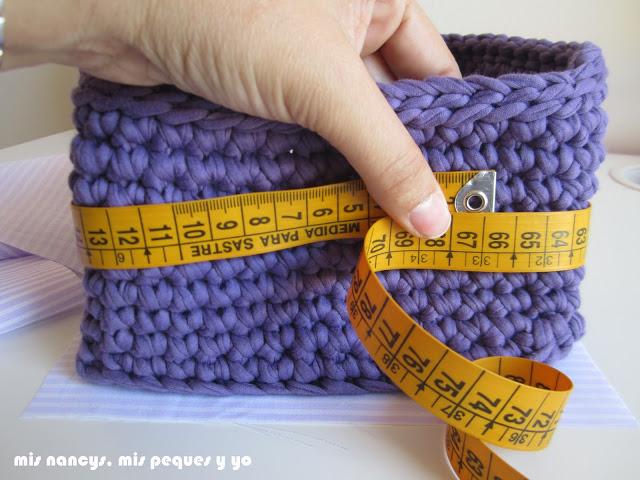 mis nancys, mis peques y yo, tutorial DIY funda cestas, medir contorno exterior