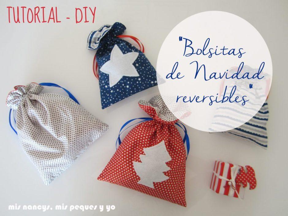 mis nancys, mis peques y yo, tutorial DIY bolsitas de tela reversibles para regalar en navidad