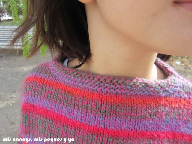 mis nancys, mis peques y yo, Tutorial DIY como coser un jersey de lana, jersey de lana Katia detalle cuello