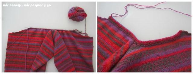 mis nancys, mis peques y yo, Tutorial DIY como coser un jersey de lana, tejer el cuello