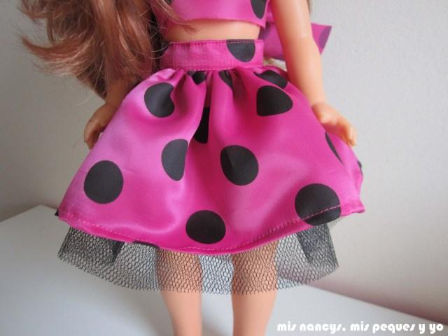 mis nancys, mis peques y yo, Tutorial falda fruncida con tul para Nancy y niñas, detalle falda
