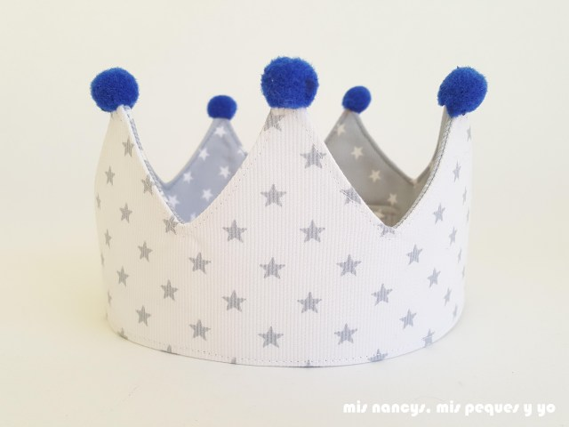 mis nancys, mis peques y yo, corona de tela para niños y marco personalizado, corona reversible lado blanco