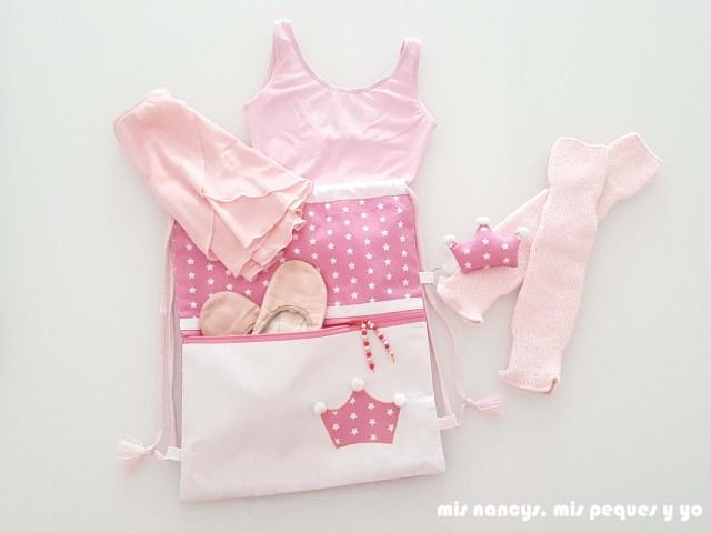 mis nancys, mis peques y yo, mochila pandilleando para ballet, mochila para guardar atuendo de ballet
