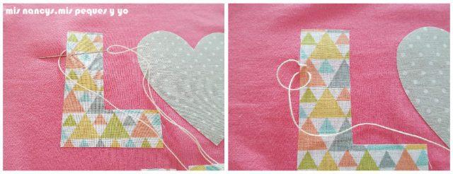 mis nancys, mis peques y yo, tutorial aplique en camiseta love, punto feston