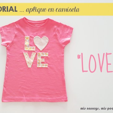 Tutorial aplique en camiseta… «LOVE»