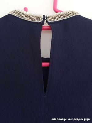 mis nancys, mis peques y yo, blusa de doble capa para mujer, detalle abertura trasera