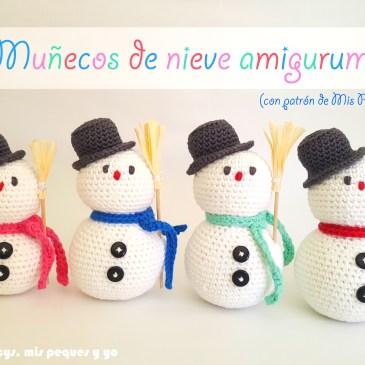 Muñecos de nieve amigurumi