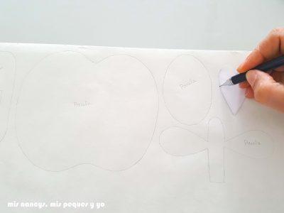 mis nancys, mis peques y yo, tutorial como personalizar camisetas, aplique de manzana, dibujar flixelina