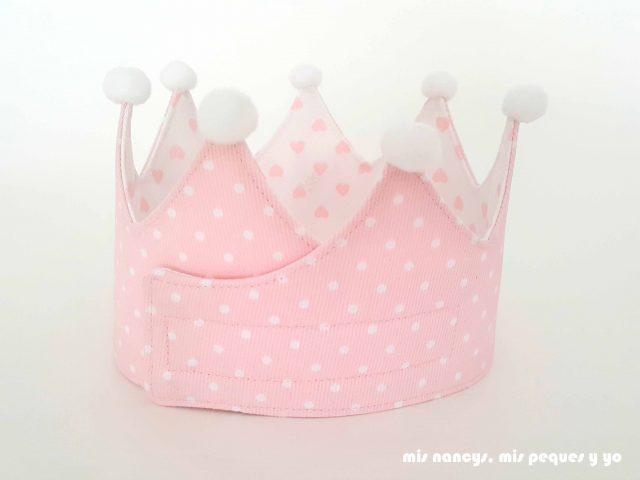 mis nancys, mis peques y yo, corona de cumpleaños de tela, corona con velcro