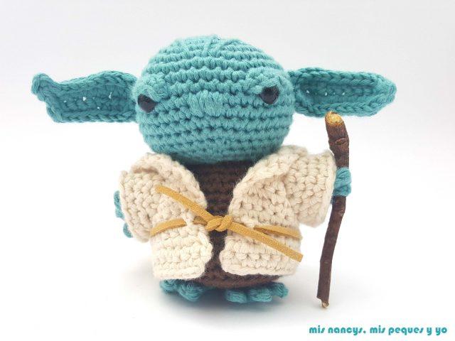 mis nancys, mis peques y yo, Yoda amigurumi Star Wars