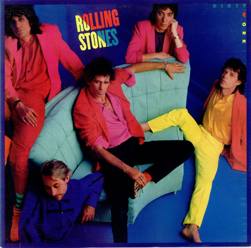 It's amazing that the Rolling Stones lasted through the decade with artwork like this. You can imagine how hard the photographer had to work to get them to pose for this pic. The whole band looks confused, but drummer Charlie Watts looks like he has died of embarrassment. See also their Undercover album, for more badness from the period.