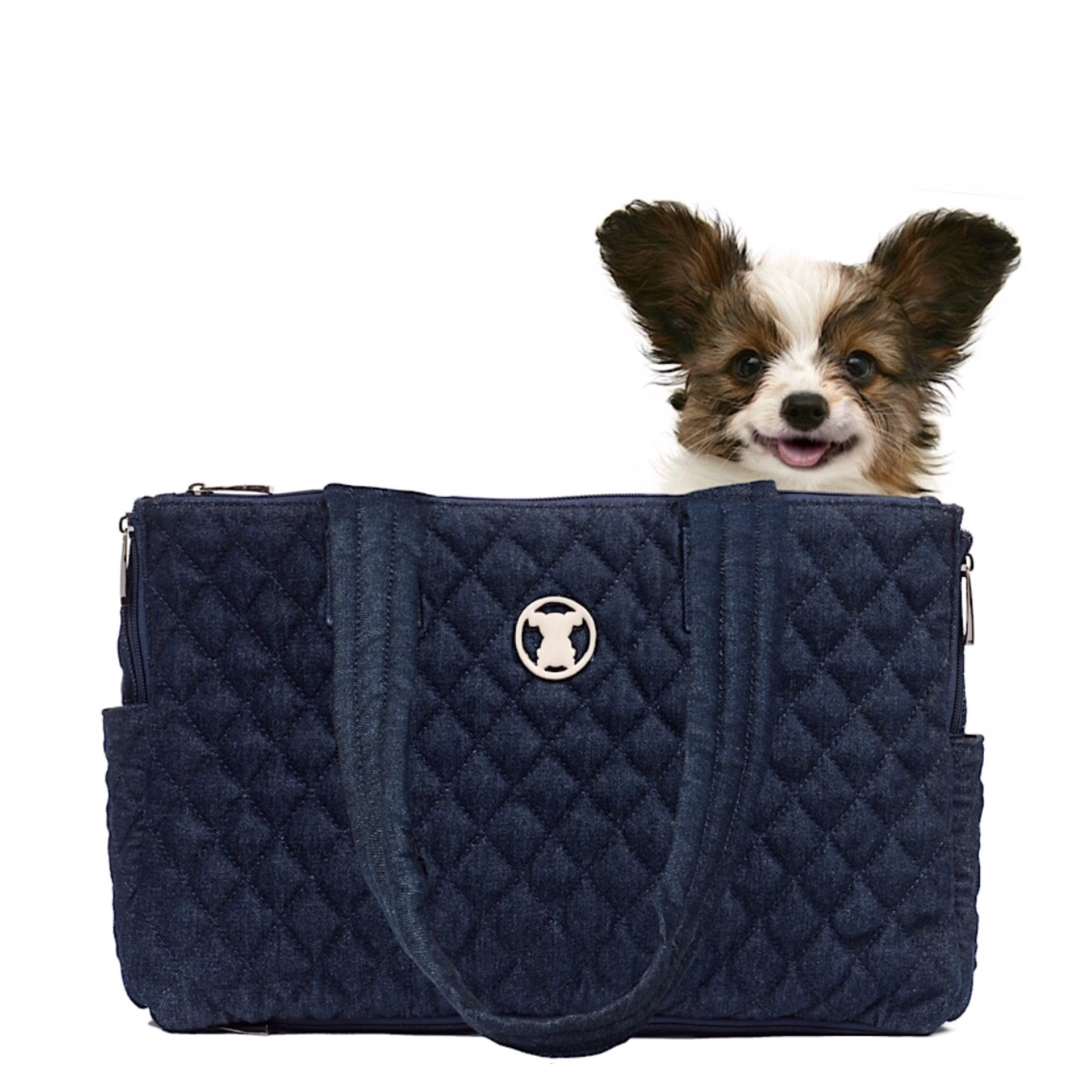 Quilted Denim Shell Tote
