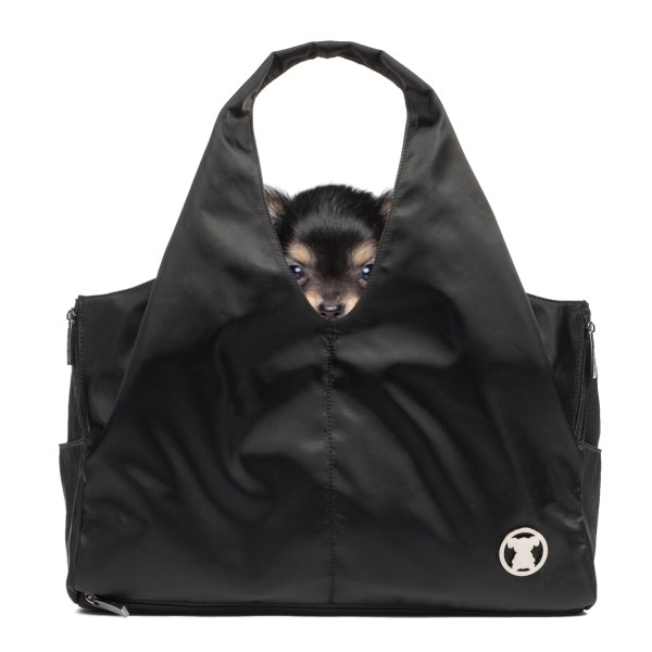 Sporty Black Shell Tote