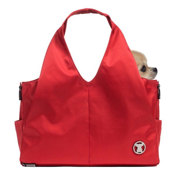 Sporty Red Shell Tote