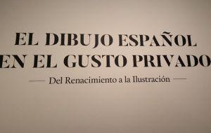 Exposición El dibujo español en el gusto privado 1 Mis Palabras con Letras