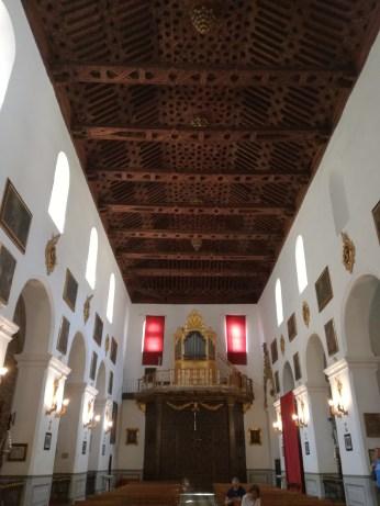Cubierta mudéjar de la nave central. San Pedro y San Pablo. Granada