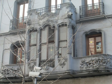 Detalle modernista. Gran Vía. Granada, Foto: Francisco López