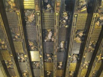 Cubierta de madera. Cuadra Dorada. Casa de los Tiros. Foto: Francisco López