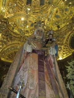 Camarín de la Virgen del Rosario. Imagen. Foto: Francisco López