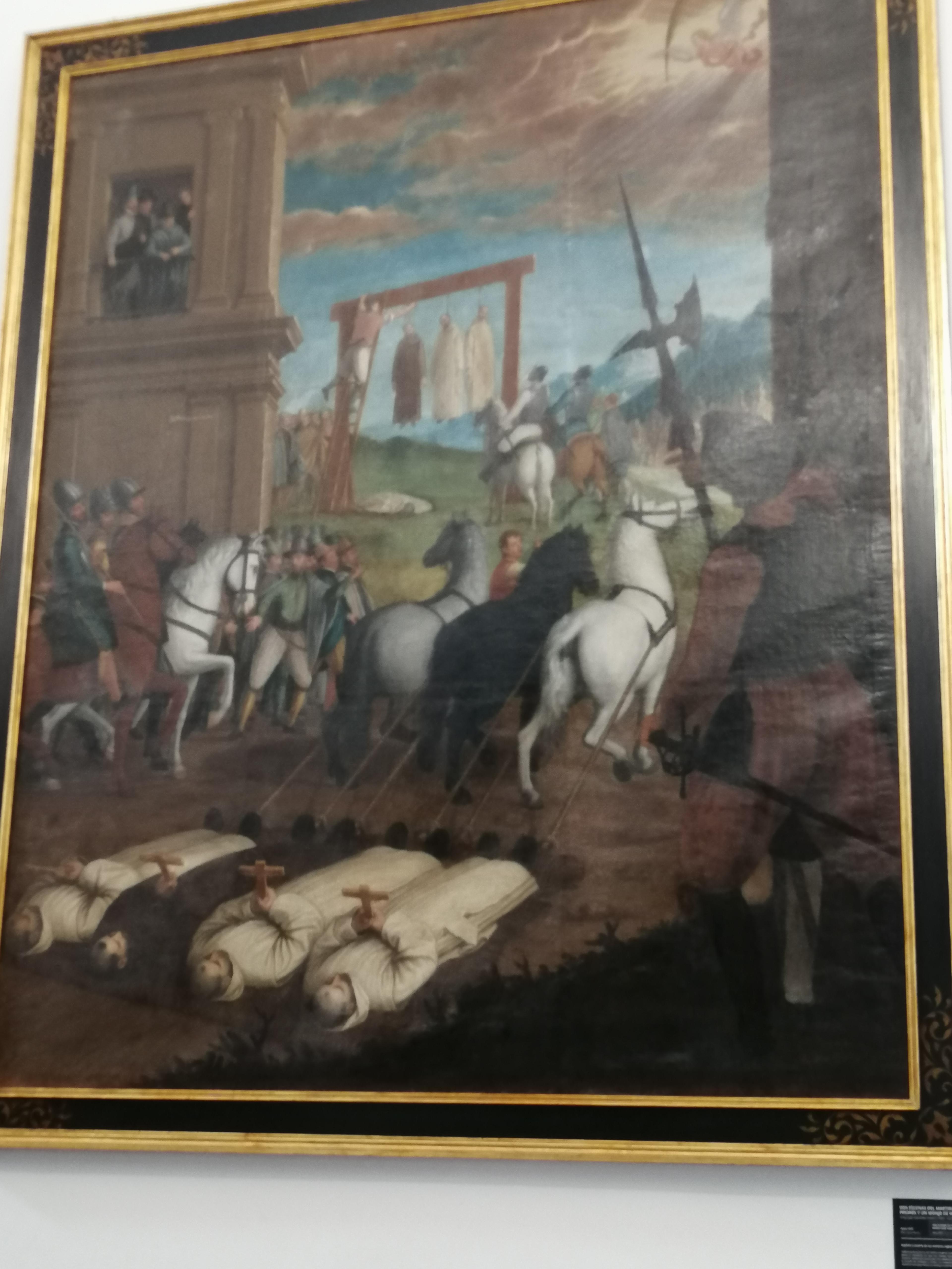 Martirio de Cartujos en Inglaterra. Cartuja Granada