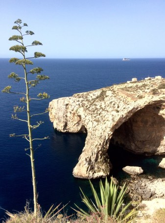 Blue Grotto from Above