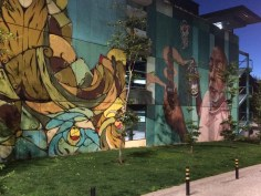 Street art on a nightime walk