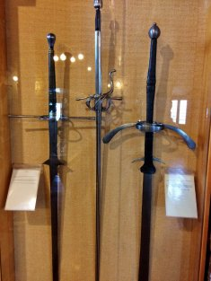 San Marino is famous for weapons, the middle sword (from the Armor Museum) has a telescoping blade
