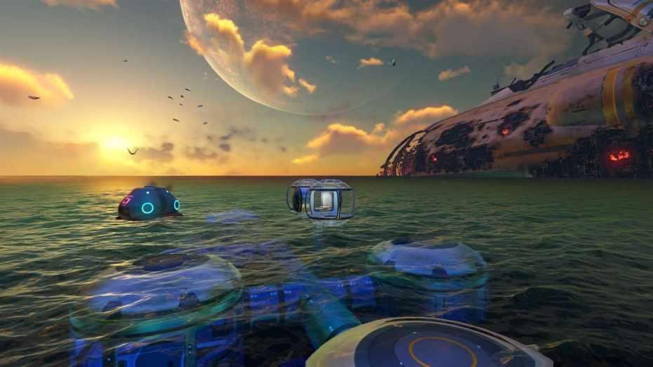 Subnautica est un jeu de survie sorti en 2014. Il plonge le joueur dans la peau du survivant d'un crash de vaisseau spatial.