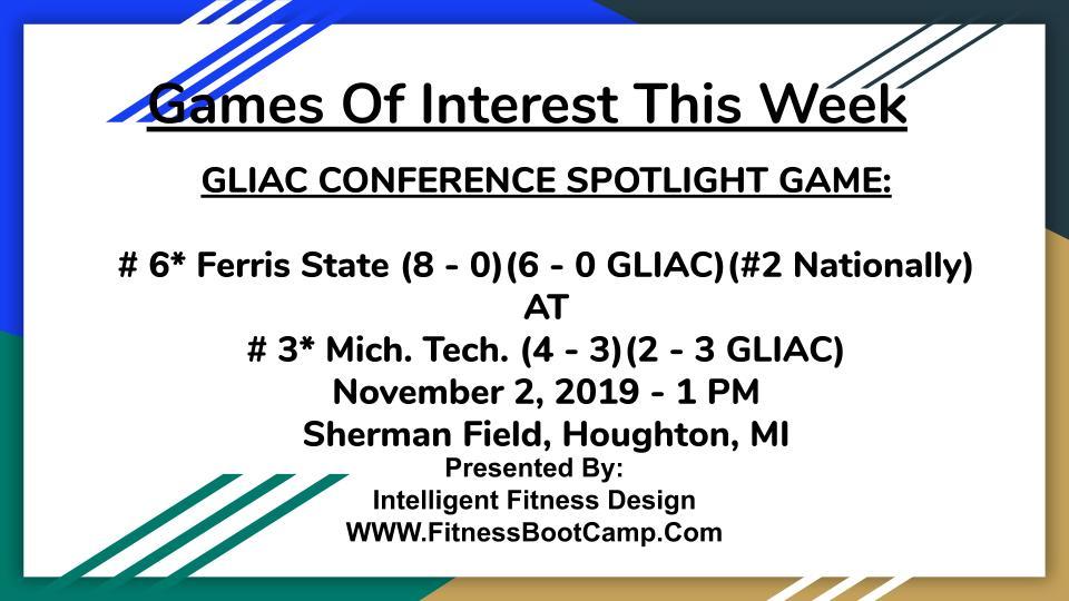 Week 9 Games of Interest (2)