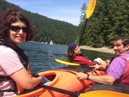 Todd Inlet 2017 (by Sepideh): with Mehrave & Navid