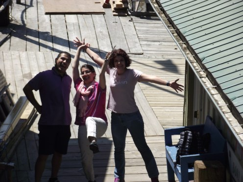 back from Todd Inlet 2017: Navid, Sepideh & Mehrave