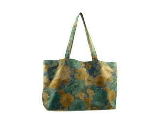 The Flowery Garden Bag - Printed leather tote bag, with gold satin lining. Four internal pockets, one with zipper. by misp (181) https://www.etsy.com/listing/188612604/