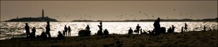 La playa al atardecer...hilos de realidad