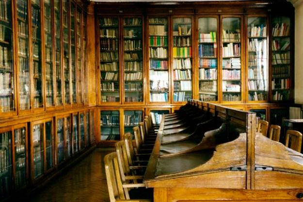 Biblioteca pupitres