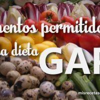 Alimentos Permitidos en la dieta GAPS