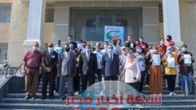 Photo of محافظ الإسكندرية يهنئ الشباب والفتيات من ذوى الهمم لتسلمهم خطابات توظيفهم.