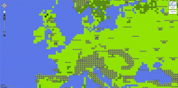 Google Maps' April Gag: Ansicht im Nintendo-View